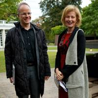 Hans Ulrich Obrist and Julia Peyton-Jones