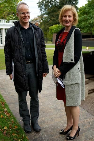 Hans Ulrich Obrist and Julia Peyton-Jones