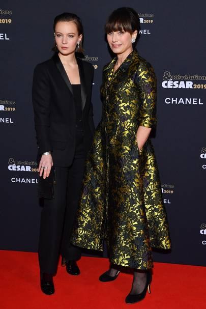 Diane Rouxel and Dame Kristin Scott Thomas
