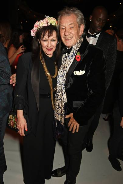 Frances Barber and Sir Ian McKellen