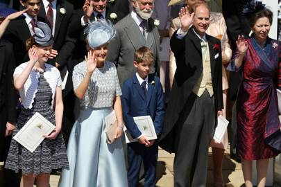 Lady Louise Windsor, Sophie Countess of Wessex, James Viscount Severn, Prince Edward and Princess Anne