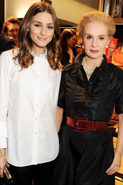 Olivia Palermo and Carolina Herrera