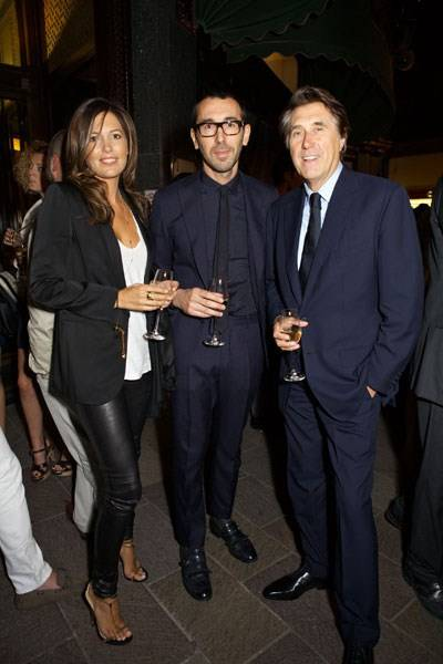 Amanda Ferry, Alessandro Sartori and Bryan Ferry