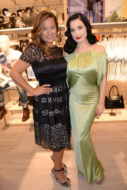 Jade Jagger and Dita Von Teese