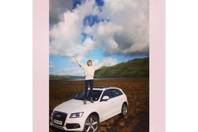 Edie Campbell 'models' an Audi (2014)