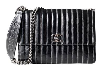 Leather bag, £2,050, by Chanel