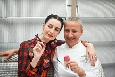 Erin O'Connor and Mourad Khiat