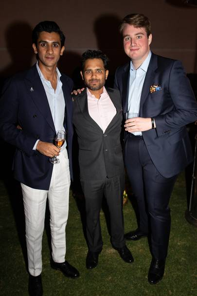 The Maharaja Sawai Padmanabh Singh of Jaipur, Abhimanyu Pathak and Ned Donovan