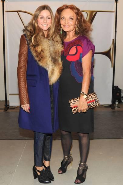 Olivia Palermo and Diane von Furstenberg