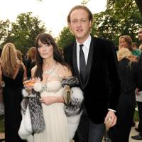 2008: With Edward Spencer-Churchill at a Raisa Gorbachev Foundation party at Hampton Court Palace