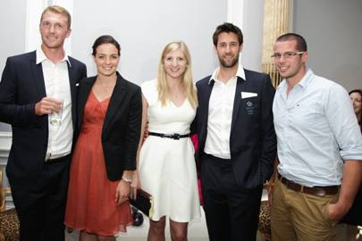 Alex Gregory, Keri-Anne Payne, Rebecca Adlington, Tom James and James Foad