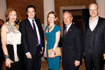 Julia Peyton-Jones, George Osborne, Frances Osborne, Michael Bloomberg and Hans-Ulrich Obrist