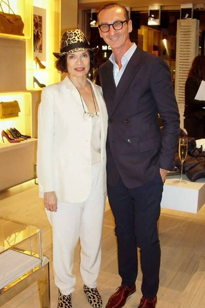Bianca Jagger and Bruno Frisoni