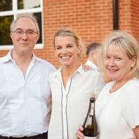 Alasdair Moore, Viscountess Hinchingbrooke and Amanda Brooks