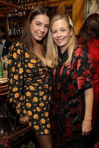 Amber Le Bon and Astrid Harbord