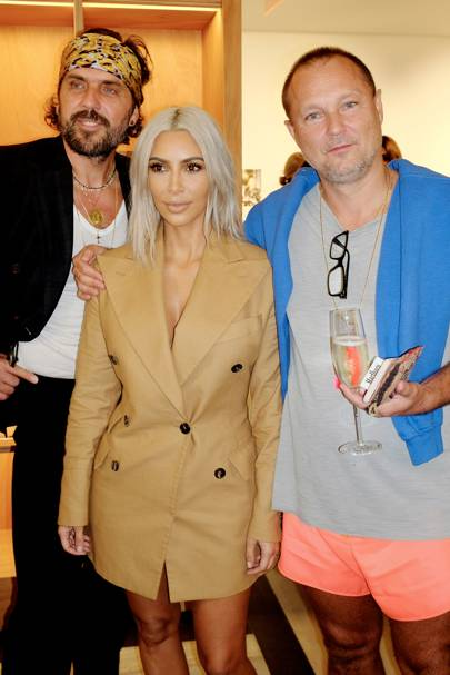 Andreas Kronthaler, Kim Kardashian West and Juergen Teller