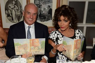 Nicholas Coleridge and Dame Joan Collins
