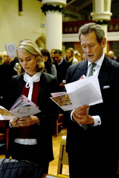 Cressida Bonas and Alexander Armstrong