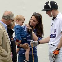 The Prince of Wales, Prince George, The Duchess of Cambridge and The Duke of Cambridge