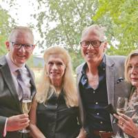 Paul Gilluley, Lady Colin Campbell, Tim Hardy and Iris Bond