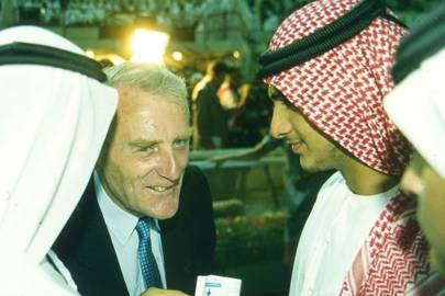 Michael Osborne and Sheikh Rashid bin Mohammed al-Maktoum