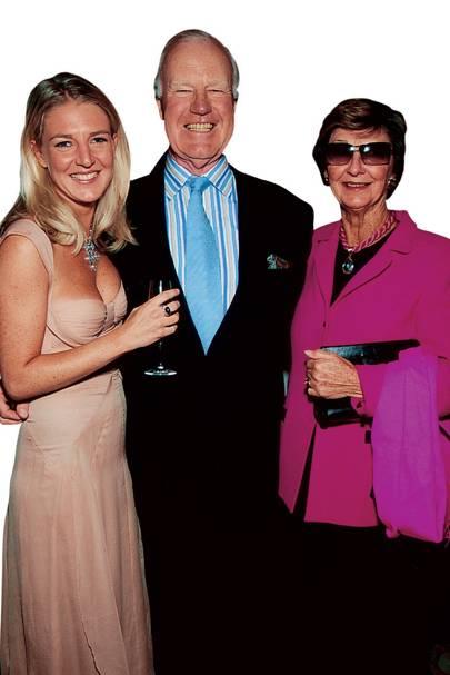 Melinda Stevens, Sir Evelyn Stevens and Jane Stevens
