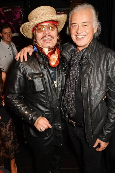 Adam Ant and Jimmy Page