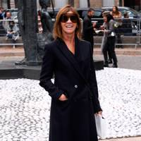 Carine Restoin-Roitfield at the Miu Miu show.