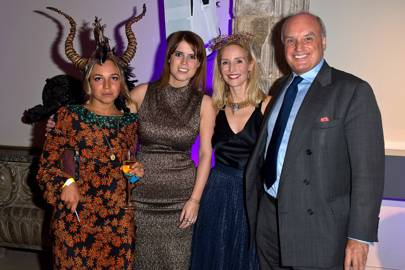 Ayesha Shand, Princess Eugenie, Ruth Powys and Nicholas Coleridge