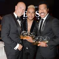 Dylan Jones, Lewis Hamilton and Lionel Richie