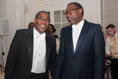 Abiola Akinola and Femi Otedola