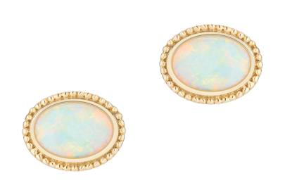 Birks gold and opal stud earrings