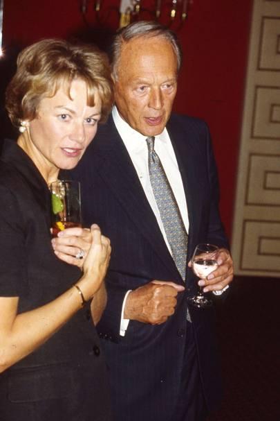 Mrs Anthony Wilson and Sir Michael Richardson