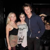 Clara Paget, Cara Delevingne and Freddie Page
