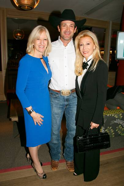 Patricia Stevenson, Clay Nannini and Madeleine Pickens