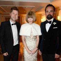 Christopher Bailey, Anna Wintour and Evgeny Lebedev