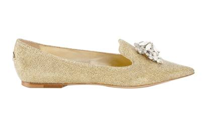 Glitter flats, £550, by Jimmy Choo