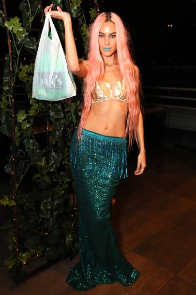 Alexa Chung as a mermaid, 2018