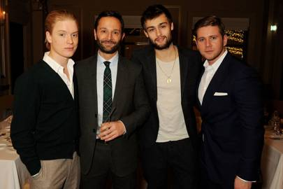Freddie Fox, Jeremy Langmead, Douglas Booth and Allen Leech