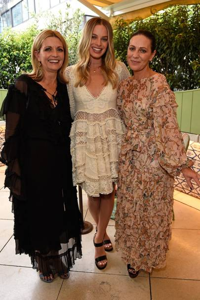 Simone Zimmermann, Margot Robbie and Nicky Zimmermann