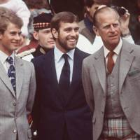 Prince Edward, Prince Andrew and the Duke of Edinburgh, 1983