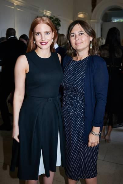 Jessica Chastain and Alexandra Shulman