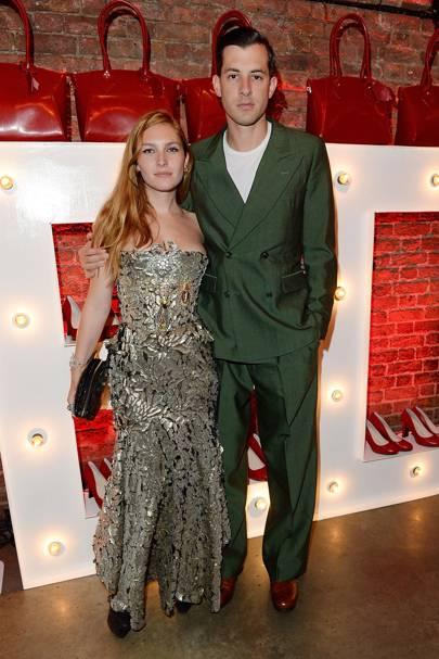 Josephine de la Baume and Mark Ronson