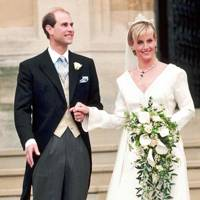 Prince Edward's marriage to Sophie Rhys Jones, 1999.