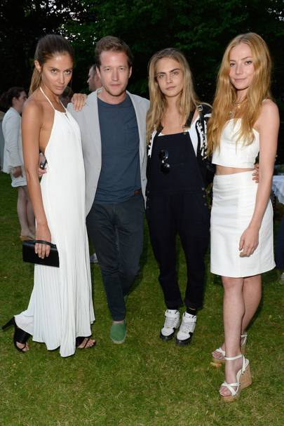 Quentin Jones, Robin Scott Lawson, Cara Delevingne and Clara Paget