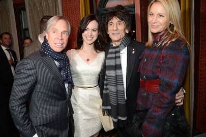 Tommy Hilfiger, Sally Humphreys, Ronnie Wood and Dee Hilfiger