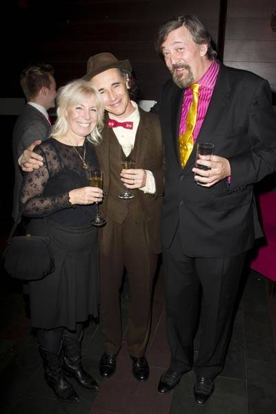Claire van Kampen, Mark Rylance and Stephen Fry