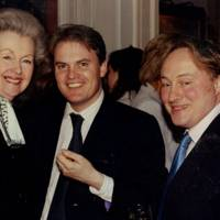 Raine Countess Spencer, Lord Dalmeny and Andrew Roberts