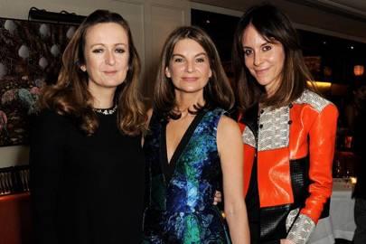 Lucy Yeomans, Natalie Massenet and Alison Loehnis