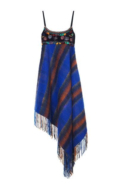 Mohair & velvet dress, £625, by Tommy Hilfiger